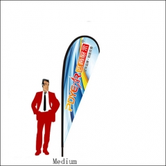 10FT/3M(H) Medium Teardrop Flag (12FT TALL)