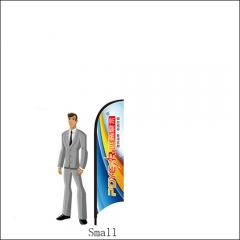 Single 7FT/2M(H) Small Feather Flags Fbs52 (8FT TALL)